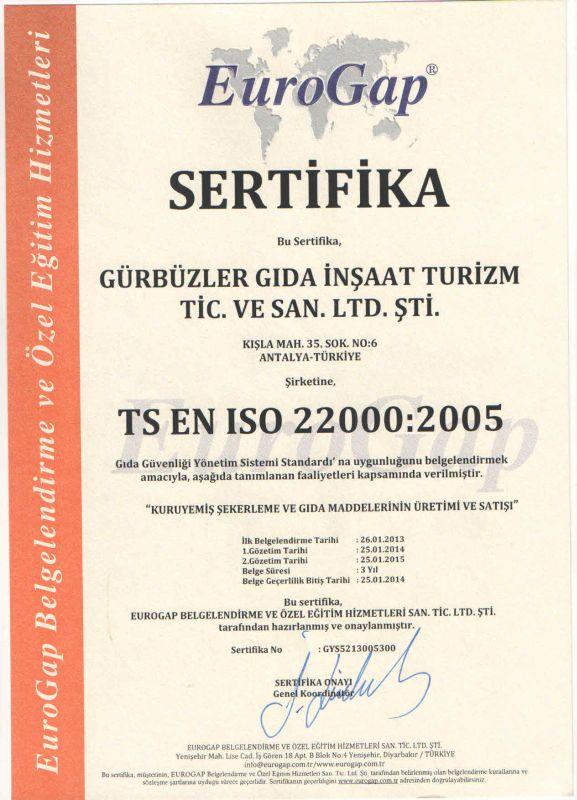 TS EN ISO 22000:2005